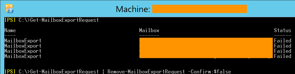 Mailbox database associated with one or more active